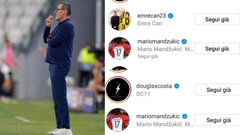 Sarri esonerato: spuntano i like di Douglas Costa, Emre Can e Mandzukic