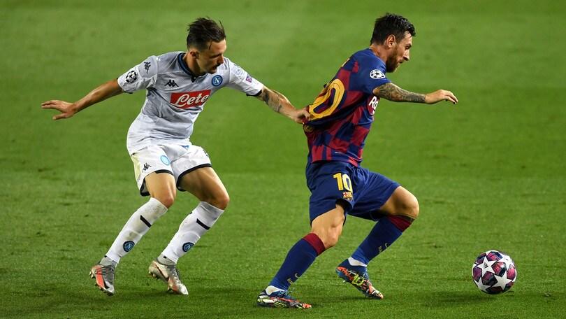 Champions League: Barcellona-Napoli 3-1, il tabellino