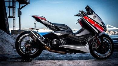 Lobomax, la Yamaha T-MAX trasformata in R1   le immagini