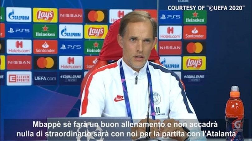 "Tuchel: ""Mbappé a disposizione contro l'Atalanta"""