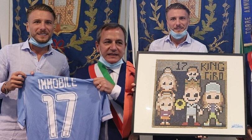 Lazio, Immobile premiato dal sindaco di Torre Annunziata