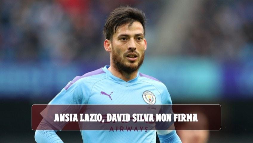 Ansia Lazio, David Silva non firma