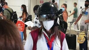 Fiumicino, controlli Coronavirus in corso: le immagini
