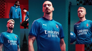 Milan, presentata la terza maglia: Ibrahimovic tra i testimonial