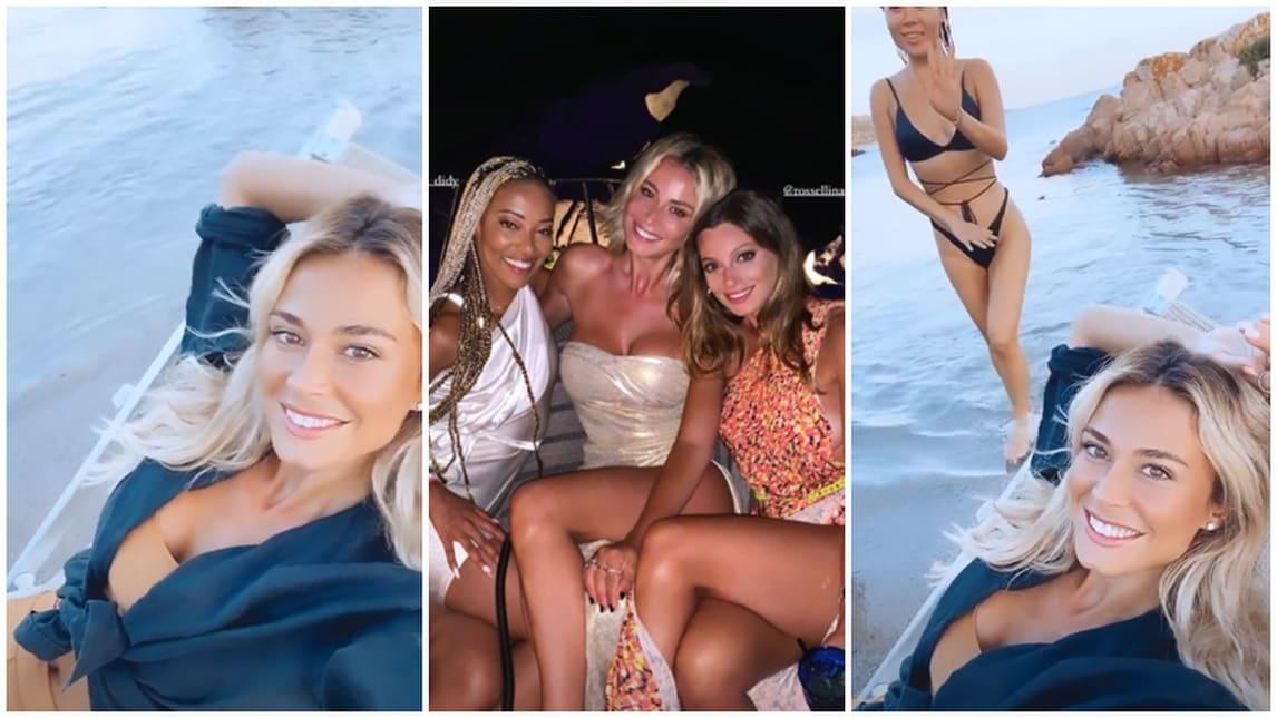 Diletta Leotta in vacanza con le amiche tra feste e spiaggia
