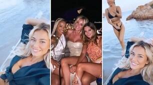 Diletta Leotta in vacanza con gli amici tra feste e spiaggia