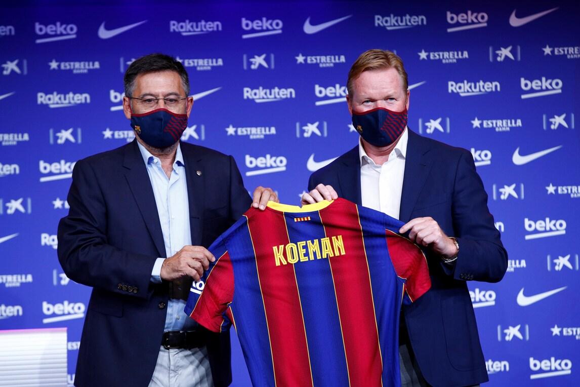 Koeman al Barcellona: presentazione…in mascherina