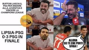 Buffon va via e il Psg arriva in finale di Champions: social scatenati