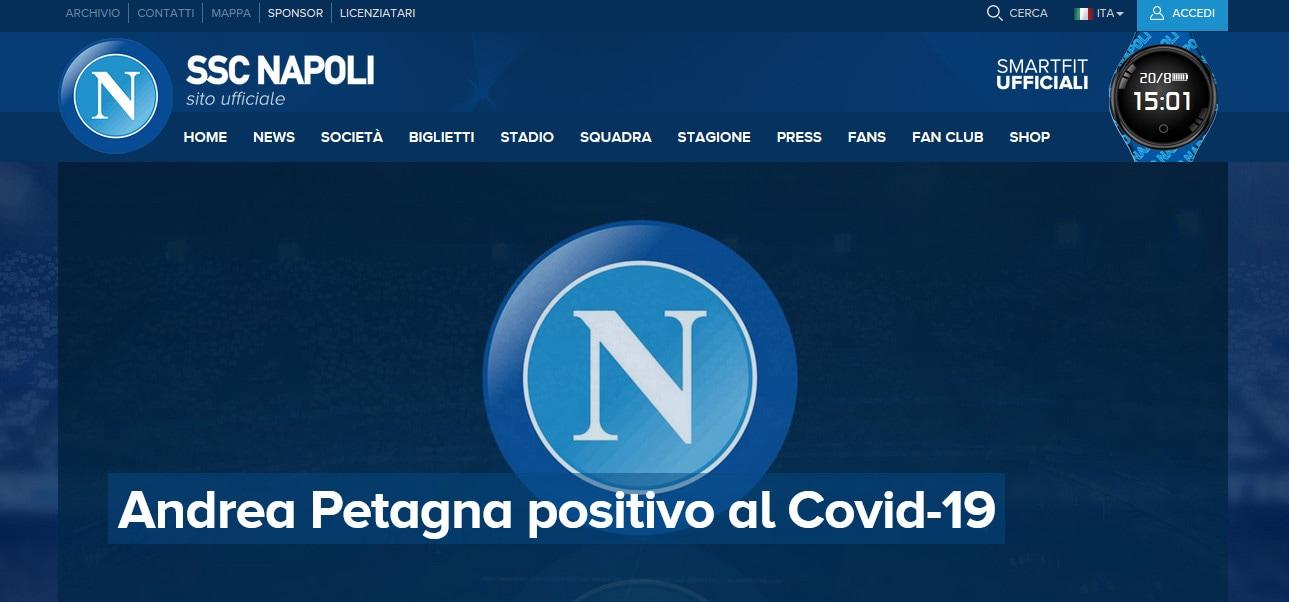 Napoli, Petagna positivo al coronavirus