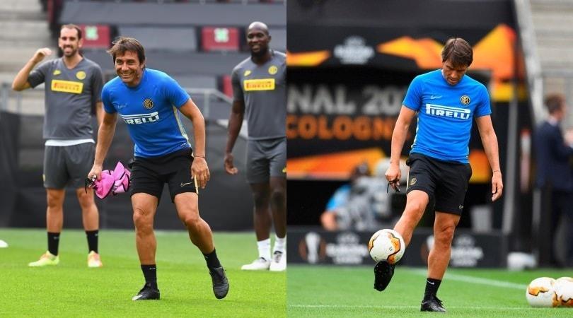 Conte torna a fare… il calciatore: quanti sorrisi nell'Inter