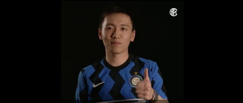 """Inter, Zhang lancia un messaggio ai tifosi: """"Siete con noi con lo spirito"""""""