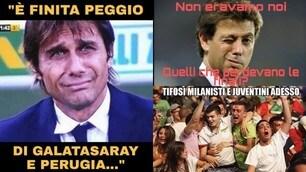 """Inter, Conte ko in finale. L'ironia dei social: """"È ancora della Juve"""""""