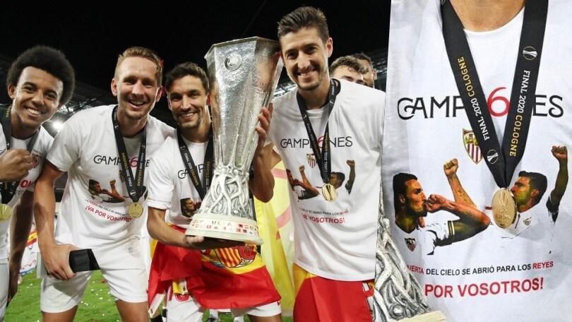 Il Siviglia vince la sua sesta Europa League: dedica speciale per Puerta e Reyes
