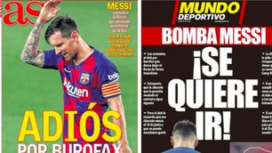 Messi, addio al Barcellona: le prime pagine dei quotidiani spagnoli