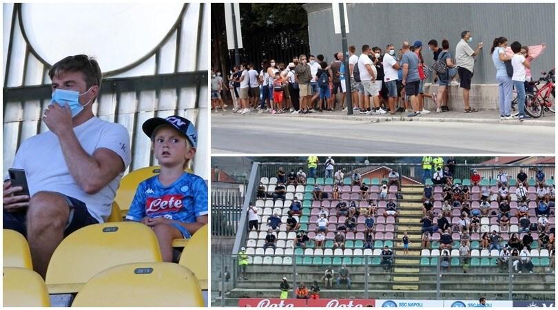 I tifosi tornano per la prima volta allo stadio per il Napoli