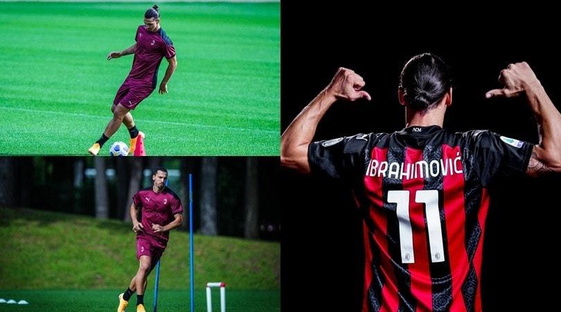 Ibra posa con la maglia del Milan, poi il primo allenamento