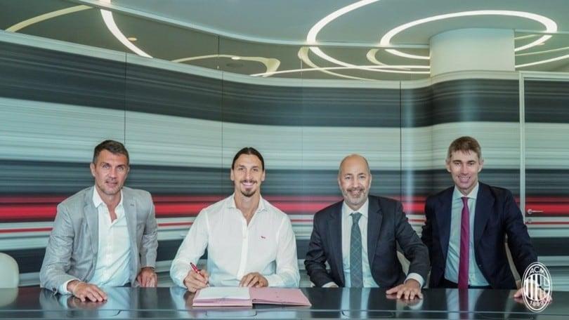 Ibrahimovic, ufficiale il rinnovo col Milan