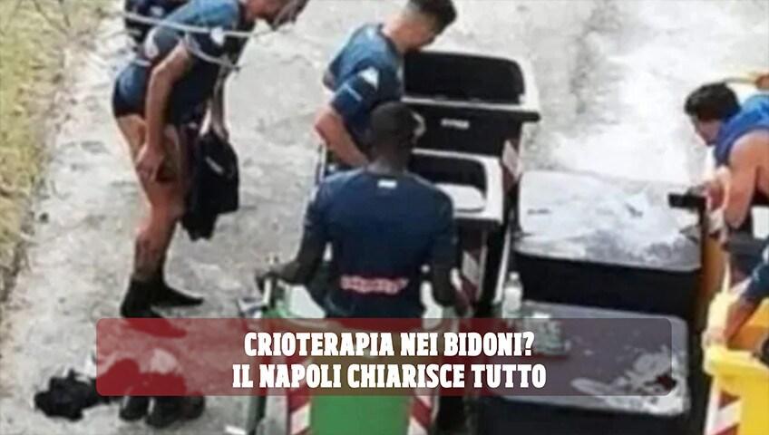 Crioterapia nei bidoni? Il Napoli chiarisce tutto