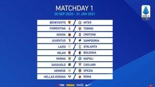 Calendario Serie A 2020/2021: Inter Juve e Lazio Roma al 18° turno
