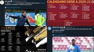 Il calendario Serie A 2020-21 di tutte le squadre