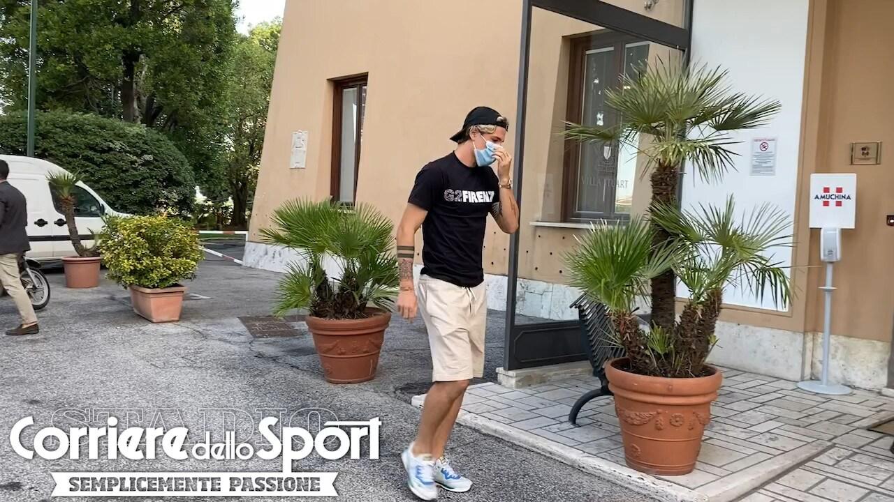 Roma, Zaniolo a Villa Stuart per gli esami al ginocchio sinistro