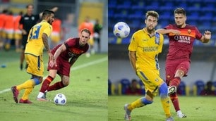 La Roma ne fa 4 al Frosinone: Karsdorp e Under, gol con messaggio a Fonseca