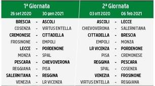 Calendario Serie B, ecco tutte le giornate