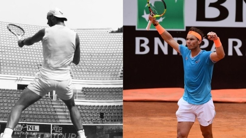 Internazionali di Roma, Nadal si allena nella capitale