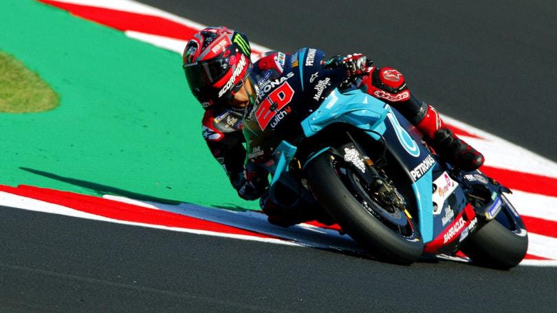 Gp San Marino: Quartararo il più veloce nelle libere 4, Rossi 8°
