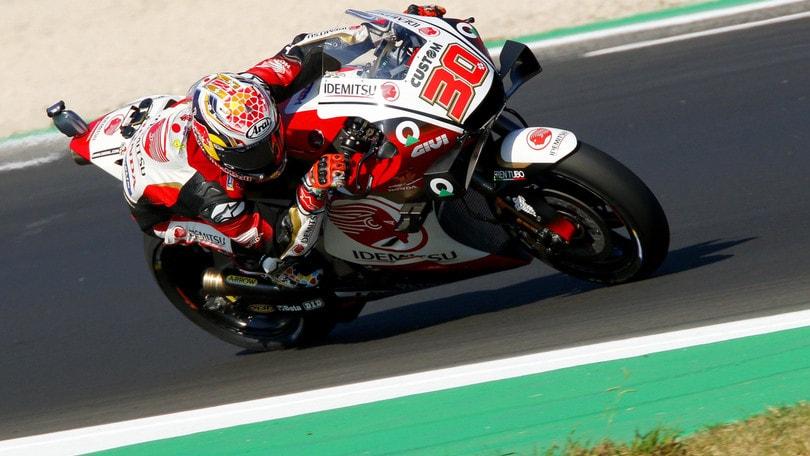 Gp San Marino: Nakagami il più veloce nel warm up, Valentino Rossi 14°