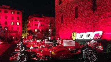 Ferrari, festa rossa per i mille Gran Premi a Piazza della Signoria