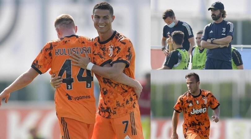 Juve, 5-0 al Novara: Ronaldo e Kulusevski brillano in arancione
