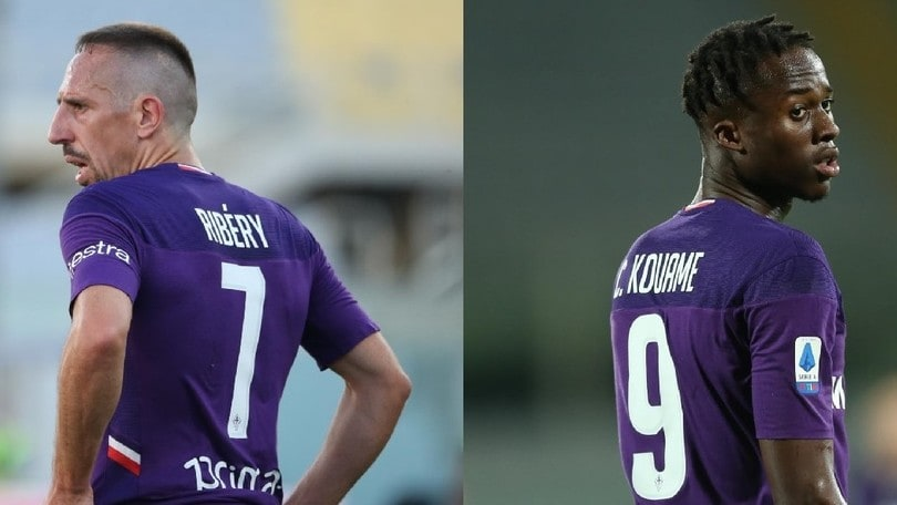 Ribery&Kouamé, la coppia gol della Fiorentina
