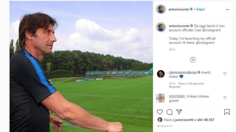 Inter, Conte sbarca su Instagram con un profilo ufficiale