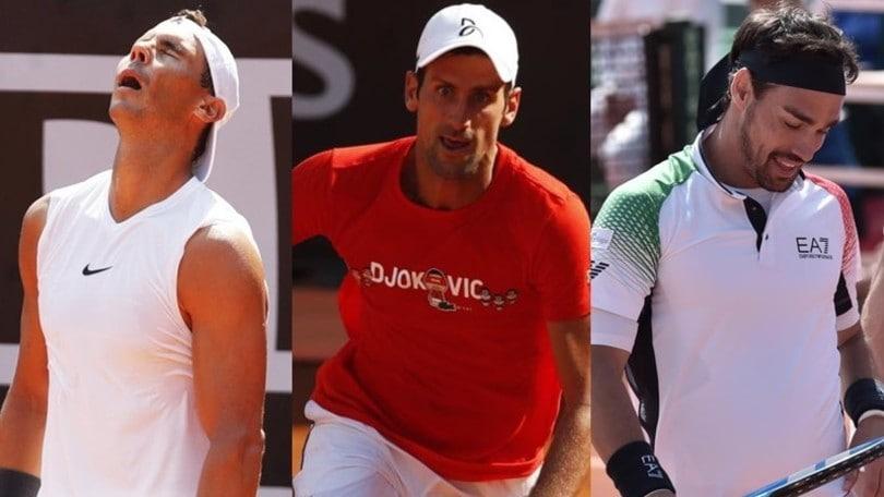 Ranking ATP: Djokovic stacca Nadal, Fognini perde una posizione