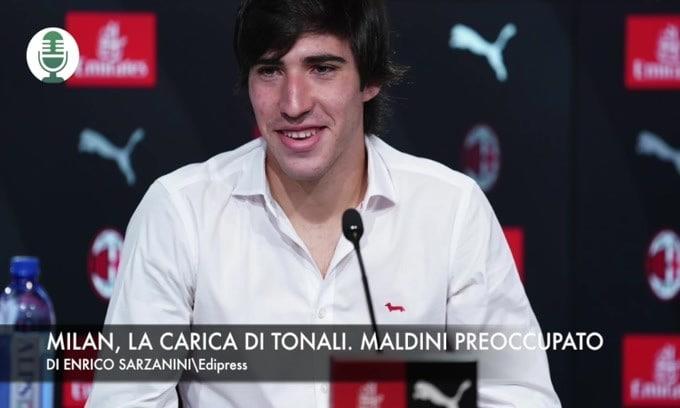 Milan, la carica di Tonali. Maldini preoccupato
