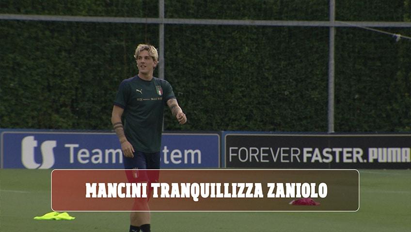"""Italia, Mancini: """"Zaniolo può recuperare con tranquillità per poi venire agli Europei"""""""