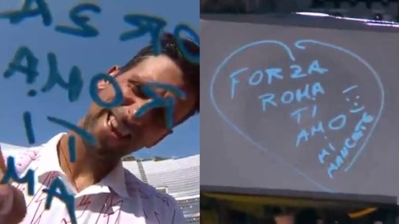 Djokovic e il messaggio