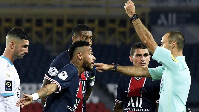 Neymar, solo due giornate di squalifica dopo la rissa in Psg-Marsiglia