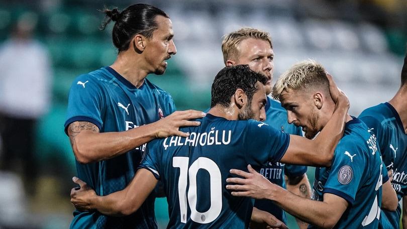 Shamrock-Milan 0-2: Ibrahimovic e Calhanoglu portano Pioli al terzo turno di Europa League