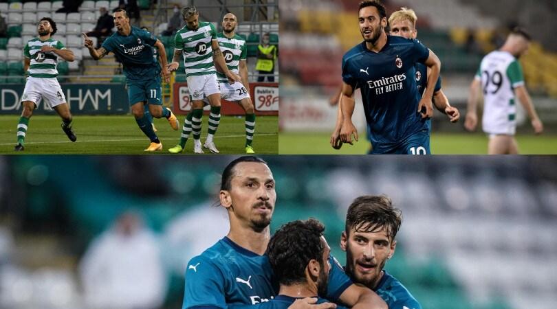 Ibrahimovic e Calhanoglu trascinano il Milan nei preliminari di Europa League