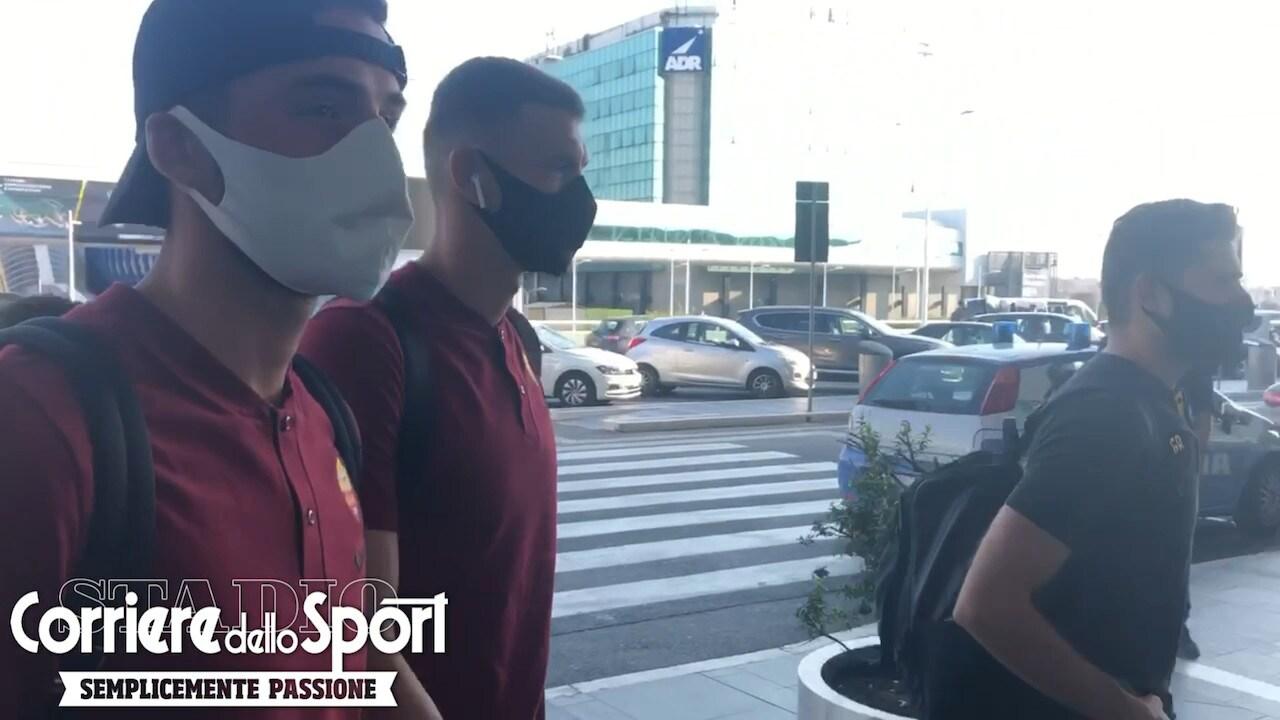 Roma, Dzeko è partito per Verona con la squadra: ultima trasferta in giallorosso
