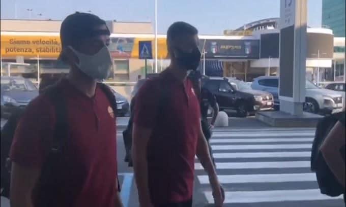 Roma, partenza verso Verona: c'è Dzeko