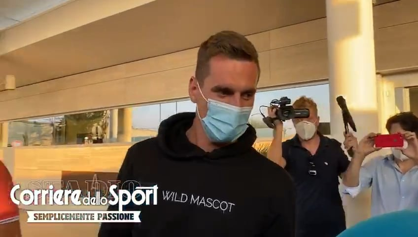 Milik è rientrato a Roma dopo le visite in Svizzera