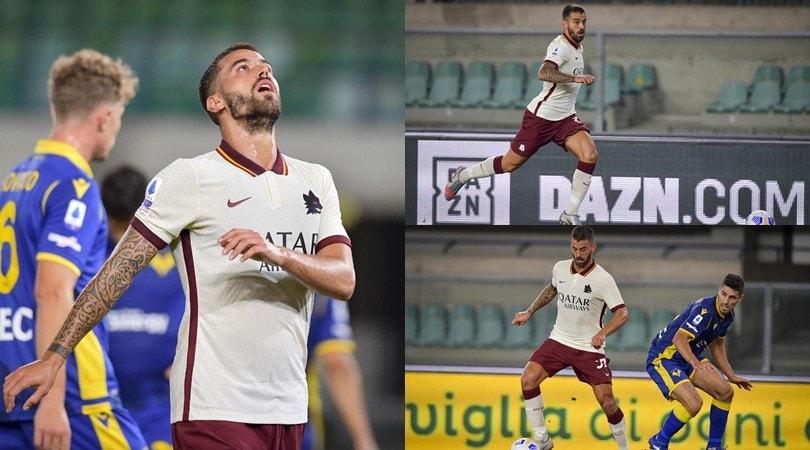 Spinazzola fermato dalla traversa: la Roma fa 0-0 a Verona
