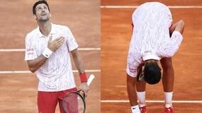Djokovic, decima finale a Roma: mano sul cuore e inchino