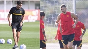 Dzeko si allena con la Roma. E domenica c'è la Juve