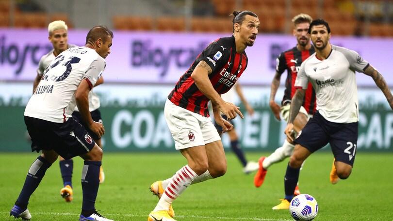 Milan-Bologna 2-0, il tabellino