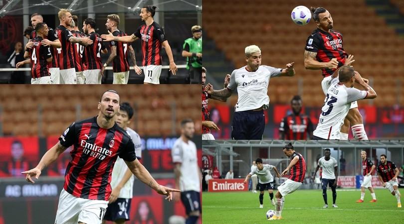 Il Milan riparte nel segno di Ibra: doppietta show col Bologna