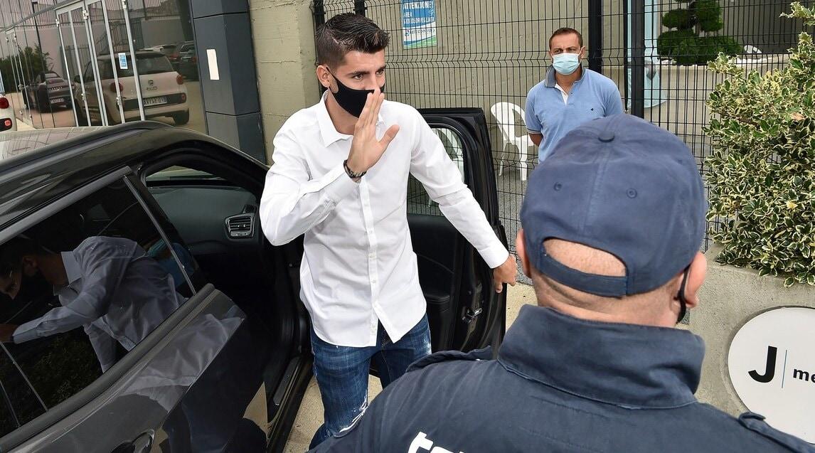 <p>Il nuovo attaccante bianconero pronto a sostenere le visite mediche</p>